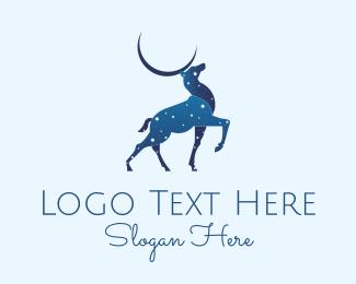 Doe - Blue Deer Astrology logo design