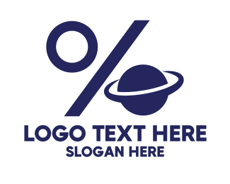 Saturn - Discount Planet logo design