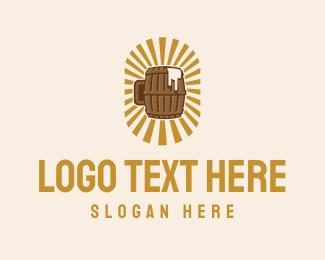 Alcohol - Beer Barrel logo design