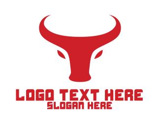 Livestock - Minimalist Red Bull logo design