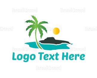 Cuba - Sunny Beach logo design