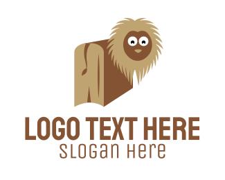 Book - Lion Book logo design