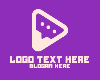 Message App - Communication Play App logo design