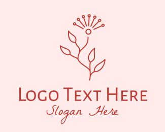 Centerpiece - Minimalist Red Flower  logo design