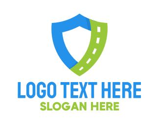 Route - Shield Roadway logo design