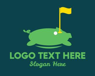 Piggy Bank - Golf Tournament logo design