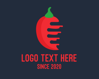 Fire - Red Mexican Chili logo design