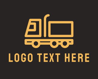 Pickup - Cargo Trailer Truck  logo design