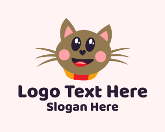 Grooming - Kitten Cat logo design