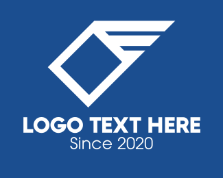 Crate - White Package Express Delivery logo design