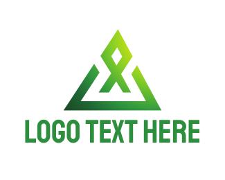 Fisherman - Geometric X  logo design