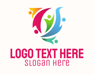 Outsourcing - Colorful People logo design