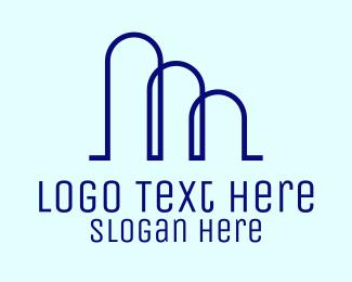 Minimalist - Minimalist Curvy Buildings logo design