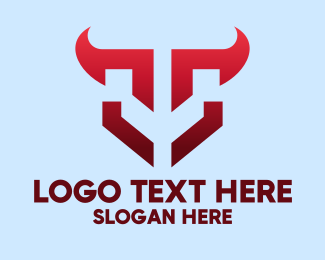 Horn - Red Horn Gaming Emblem  logo design