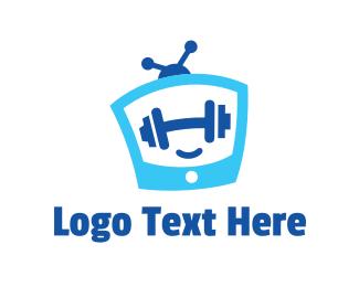 Tv Show - Fitness TV Channel logo design