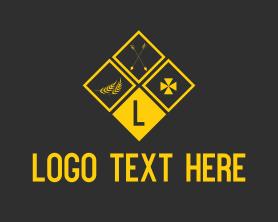 Text - Golden Knight Letter logo design