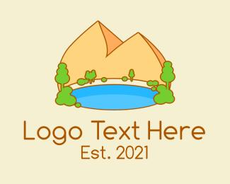 Tree - Cute Oasis Park logo design