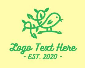 Little - Little Green Bird Vine logo design