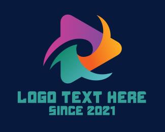 Youtube - Colorful Youtube Vlog logo design