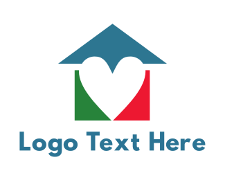 Early Learning Center - Colorful Heart House logo design
