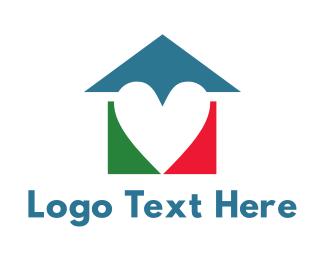 Educational - Colorful Heart House logo design