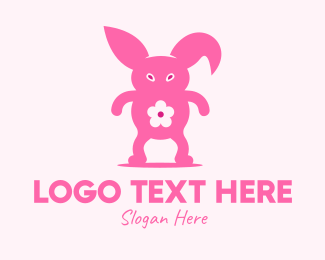 Cyclop - Pink Rabbit Monster logo design