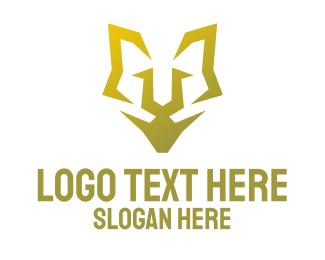 K9 - Minimalist Golden Feline logo design