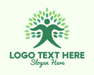 Human Tree - Green Ecologist  logo design