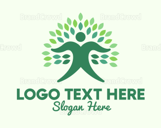 Human Tree - Green Ecologist  logo design
