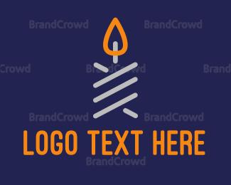 Decoration - Minimalist Candle logo design
