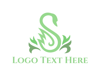 High Tea - Green Swan logo design