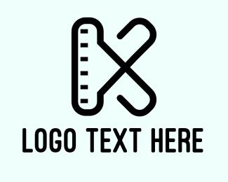 Pediatrics - Measuring Letter K logo design
