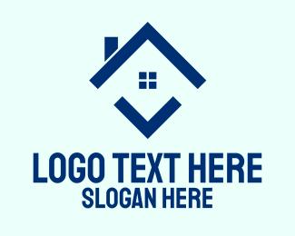 Chimney - Blue Arrow House logo design