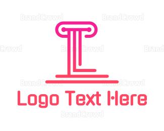 Modern - Modern Pillar L logo design