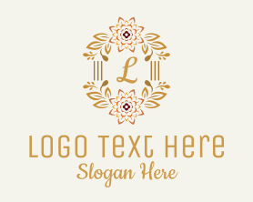 Bouquet - Classy Flower Letter logo design