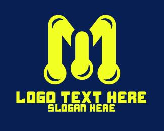 Bio Lab - Lab Letter M logo design