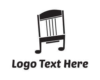 Music Note - Musical Rocking Chair logo design