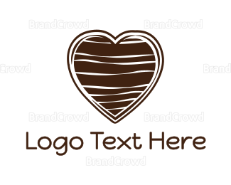 Chocolate - Chocolate Heart logo design