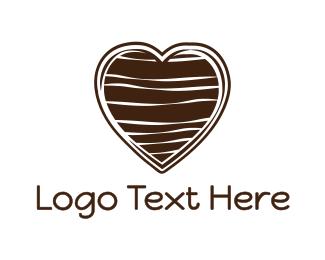 Chocolate - Chocolate Heart logo design