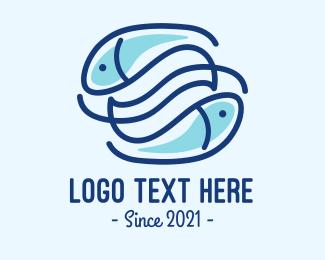 Fish Bait - Fish Sea Harmony logo design