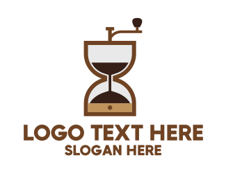 Minute - Brown Hourglass logo design