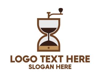 Machinery - Brown Hourglass logo design