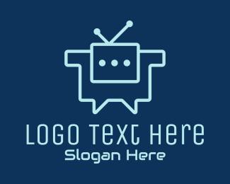 Communication - Chat Bot Communication logo design