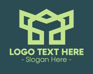 Robotic - Green Robotic Symbol logo design