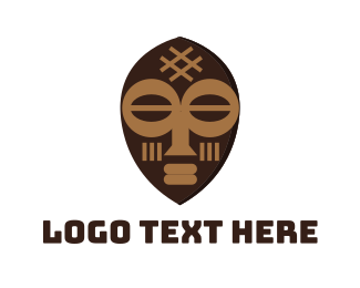 Travel - Tribal Art Mask logo design