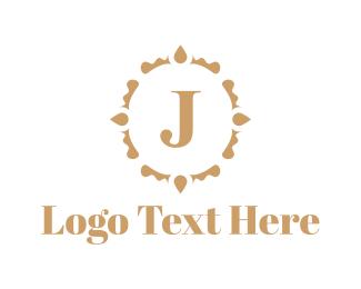 Letter J - Golden Letter J logo design
