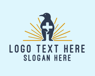 Penguin - Penguin Cross logo design