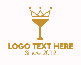 Fermented - Gold Crown Chalice logo design