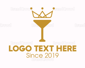 Alcohol - Gold Crown Chalice logo design