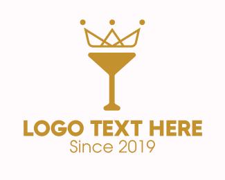 Gold - Gold Crown Chalice logo design